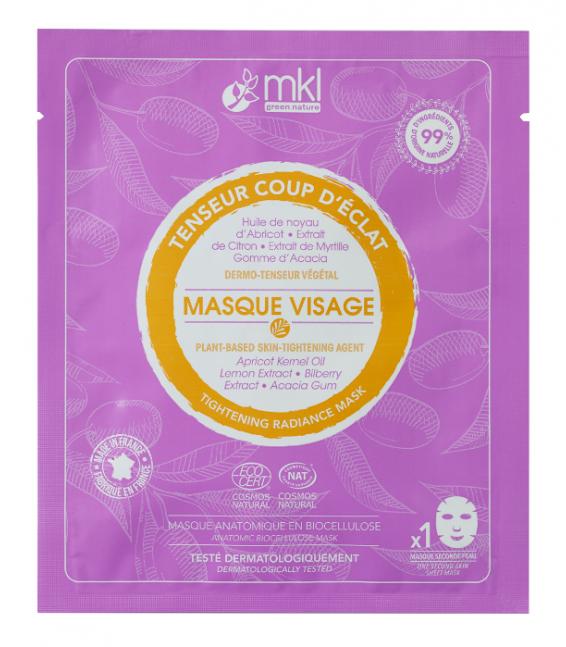 Masque Visage Tenseur Coup d'éclat certifié COSMOS NATURAL