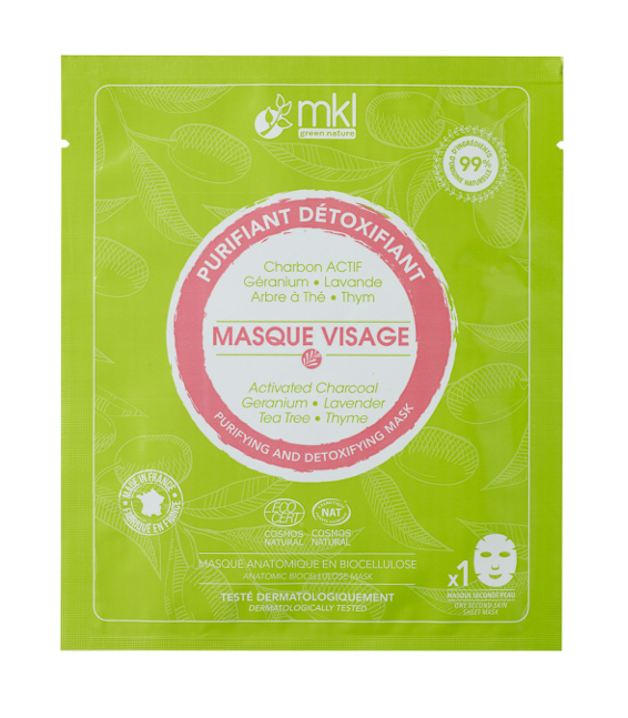 Masque Visage Purifiant Détoxifiant certifié COSMOS NATURAL