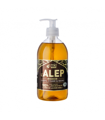 Certified Organic Aleppo Soap 500 ml