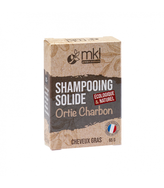 Shampooing solide 65 g - Orties Charbon